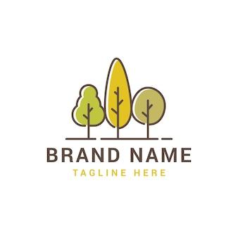 Logo triple arbre