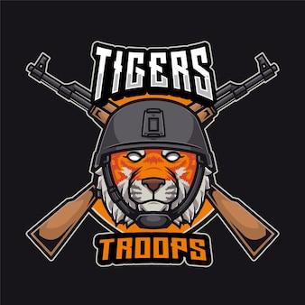 Logo des troupes de tigres