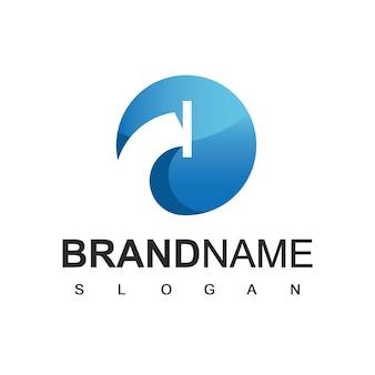 Logo de tuyau, icône de compagnie de plomberie et d'huile