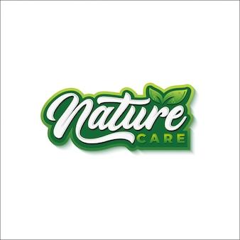 Logo de typographie d'aliments naturels