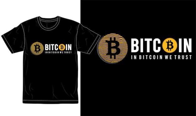 Logo et typographie graphique de conception de t-shirt bitcoin