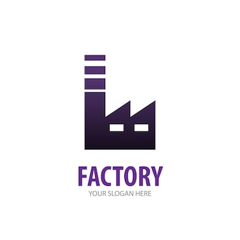 Logo d'usine pour entreprise commerciale. conception d'idée de logotype d'usine simple. concept d'identité d'entreprise. icône creative factory de la collection d'accessoires.