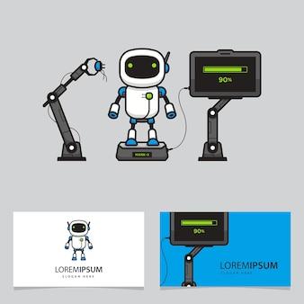 Logo d'usine de robot de carte de visite
