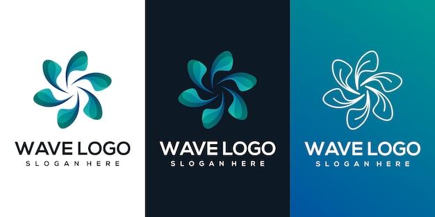 Logo vague abstraite
