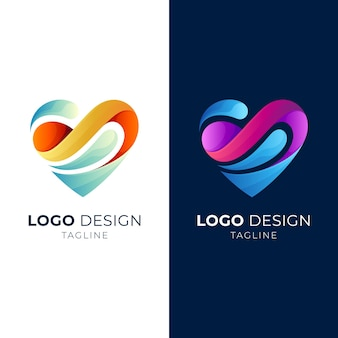 Logo de vague d'amour