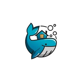 Logo de vecteur de baleine