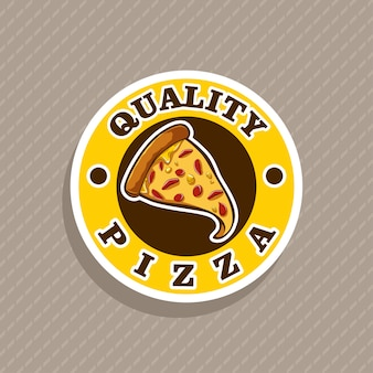 Logo de vecteur de pizza