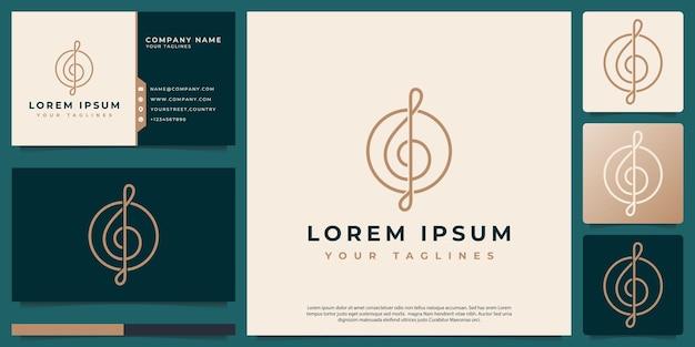 Logo vectoriel abstrait cleff clé avec style d'art de ligne minimaliste