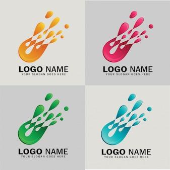 Logo vectoriel abstrait comète, concept de logo de bulle d'eau