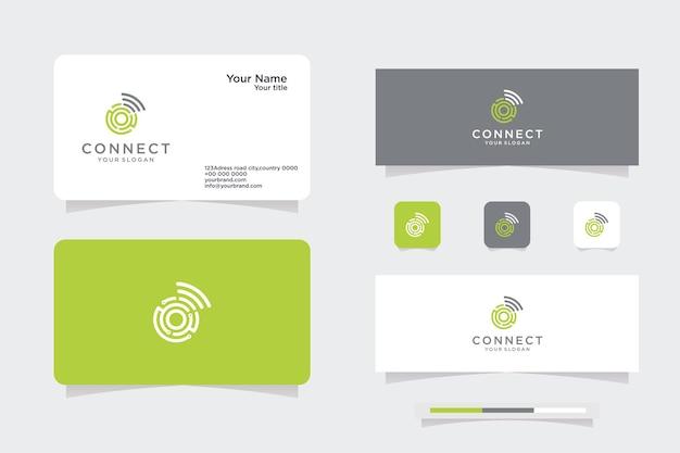 Logo vectoriel de cercles tournants, logo de carte de visite et design