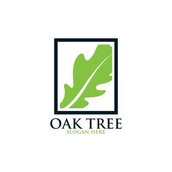 Logo vectoriel de chêne isolé. modèles de logos.