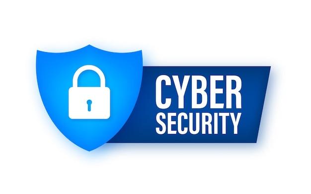 Logo vectoriel de cybersécurité avec bouclier et coche concept de bouclier de sécurité