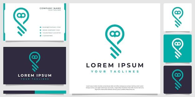 Logo vectoriel fusionnant entre les lumières et l'icône des hiboux