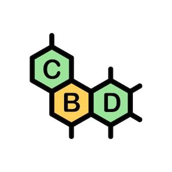 Logo vectoriel d'icône de cannabis. icône de la cdb. modèle de logo cbd