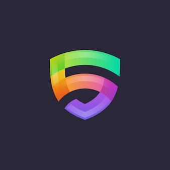 Logo vectoriel lettre s bouclier