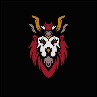 Logo vectoriel lion head premium