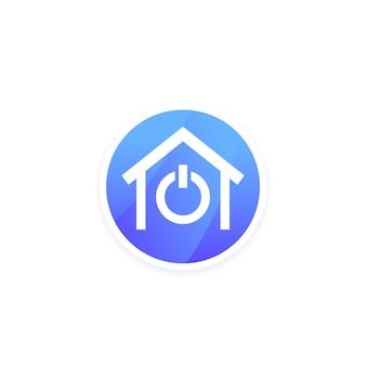 Logo vectoriel maison intelligente avec une maison