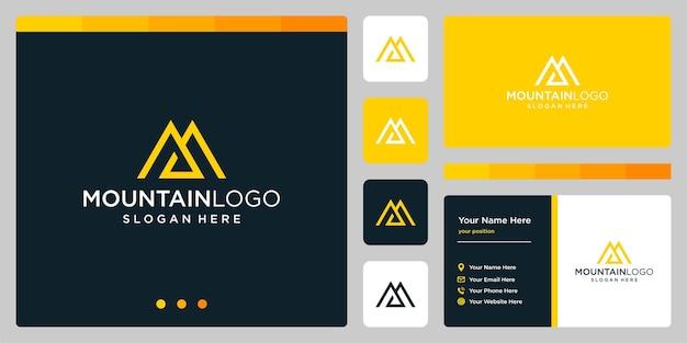 Logo vectoriel de montagnes de modèle. logotype pour entreprise et entreprise créative.