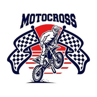 Logo vectoriel de motocross, style libre de motocross