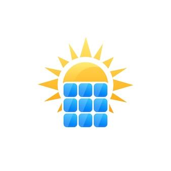 Logo vectoriel de panneau solaire