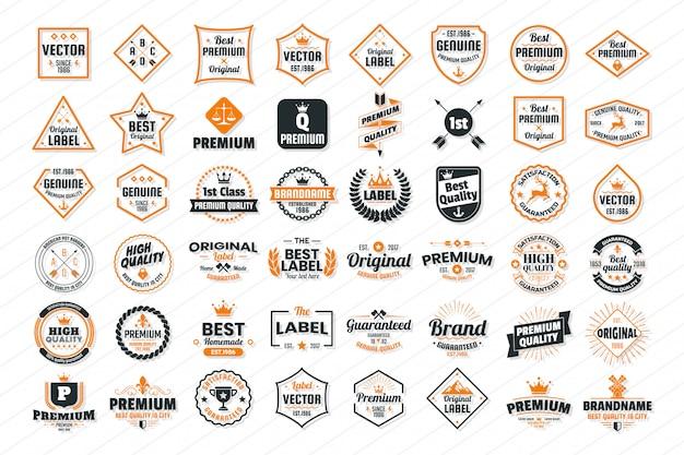 Logo vectoriel rétro vintage pour bannière, affiche, flyer