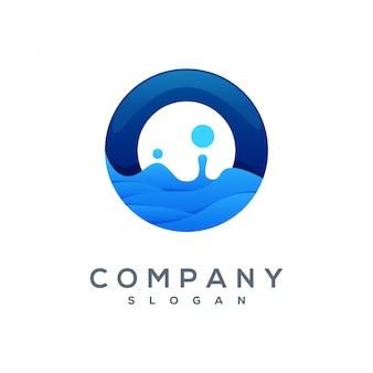 Logo vectoriel wave prêt à l'emploi