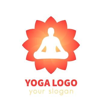 Logo vectoriel de yoga