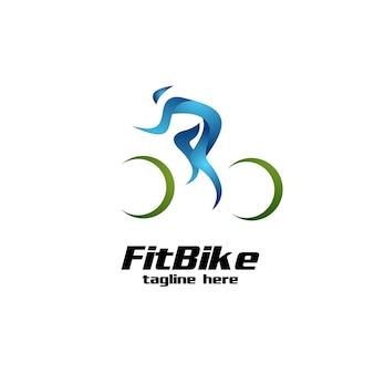 Logo de vélo en forme