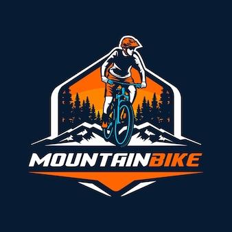 Logo De Vélo De Montagne Vecteur Premium