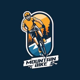 Logo de vélo de montagne