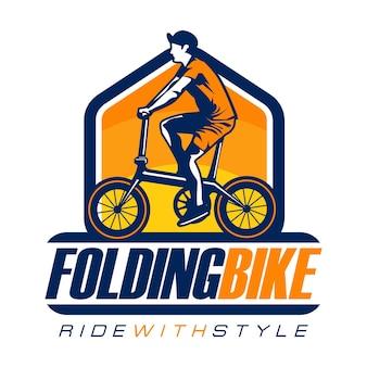 Logo de vélo pliant