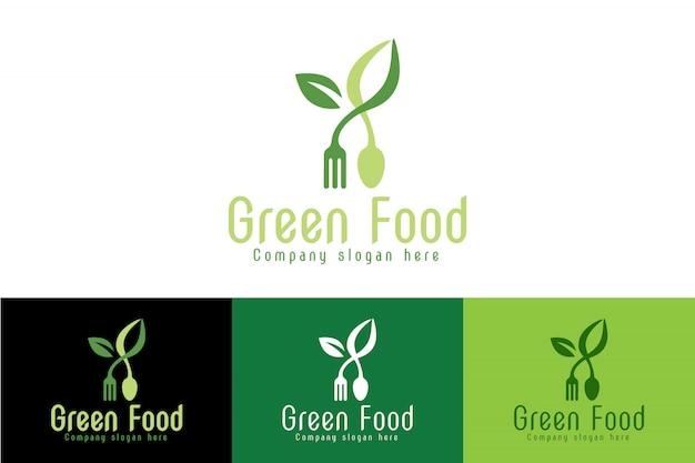 Logo vert et aliments sains