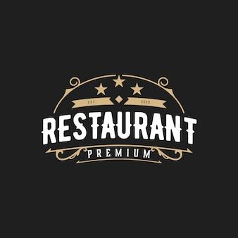 Logo vintage abstrait restaurant élégant