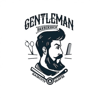Logo vintage barber shop