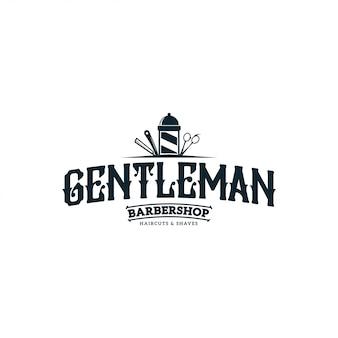 Logo vintage barber shop