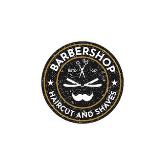 Logo vintage barbershop design template vecteur
