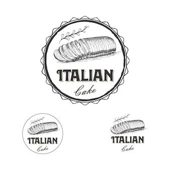 Logo vintage de boulangerie italienne