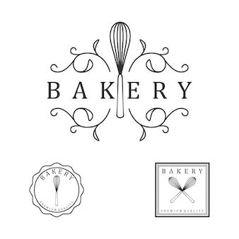 Logo vintage de la boulangerie