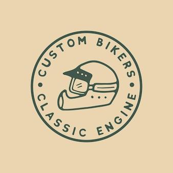 Logo vintage de casque de vélo personnalisé
