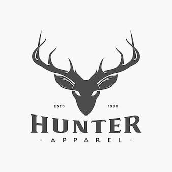 Logo vintage de cerf