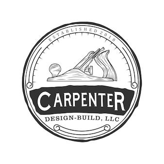 Logo vintage de charpentier