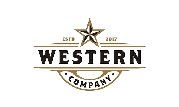 Logo vintage country emblem typography pour bière / restaurant