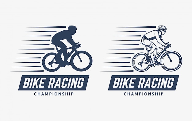 Logo vintage du championnat de course de vélo