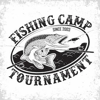 Logo vintage du club de pêche