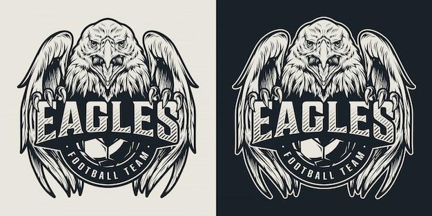 Logo vintage de l'équipe de football