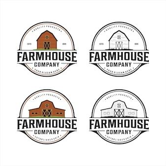 Logo vintage de ferme