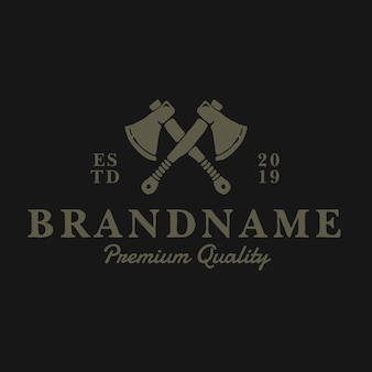 Logo vintage de hache