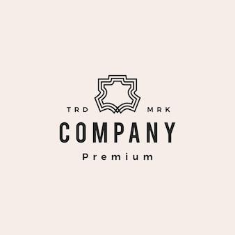 Logo vintage hipster en cuir véritable ou synthétique icône vector illustration