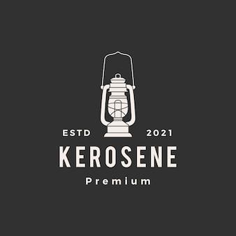 Logo vintage hipster lanterne au kérosène