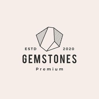 Logo vintage hipster pierre gemme